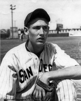 Ted Williams in Padres uniform